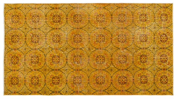 Vintage  Kilim Rug Retro Small Size 3'10'' X 7'1'' Ft   kilim rug, moroccan rug, beni ourain, rag rug, tapis kilim, vintage