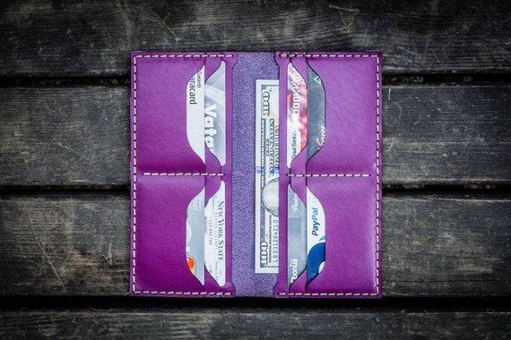 GL No.49 Purple Personalized Handmade Unisex Long Wallet