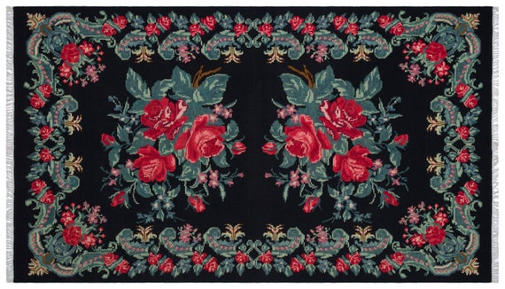 Kilim  Rug  Karabakh Large Size 6'3'' X 10'10'' Ft   kilim rug, moroccan rug, beni ourain, rag rug, tapis kilim, vintage
