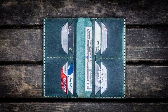 GL No.49 Forest Green Personalized Handmade Unisex Long Wallet