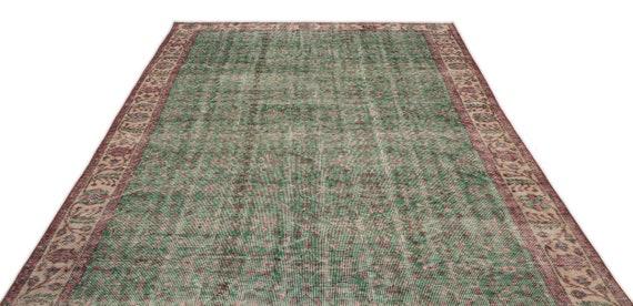 Natural 6'4'' X 9'6'' Ft Vintage Kilim Rug, turkish rug, area rug, moroccan rug, boucherouite rug, persian rug, berber rug, wool rug