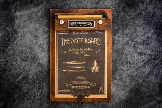 GL The Note Board - Wooden Rhodia Notepad Holder - Walnut