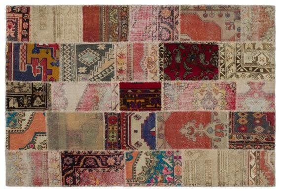 Anatolia 6'3'' X 9'3'' Ft Patchwork Unique Kilim Rug turkish rug, area rug, moroccan rug, boucherouite rug, persian rug, berber rug