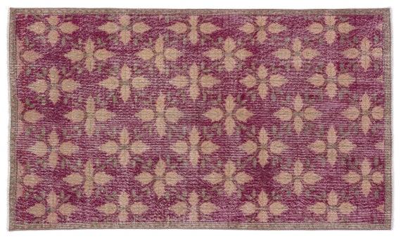 Vintage  Kilim Rug Retro Small Size 3'9'' X 6'8'' Ft   kilim rug, moroccan rug, beni ourain, rag rug, tapis kilim, vintage