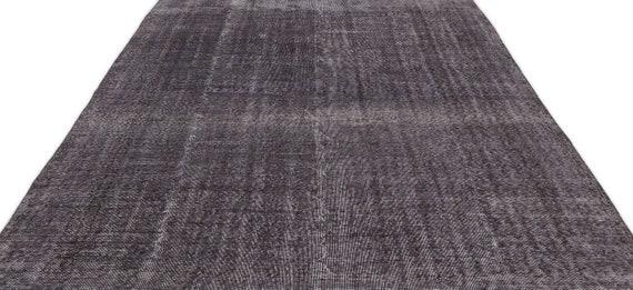 Gray 7'4'' X 10'12'' Ft Vintage Kilim Rug, Turkish Rug, Area Rug, Moroccan Rug, Boucherouite Rug, Persian Rug, Berber Rug, Wool Rug, Boho