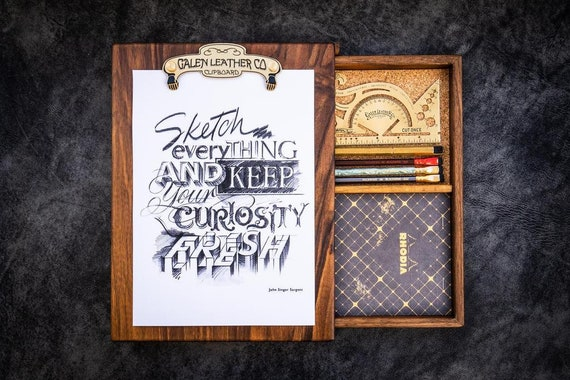 GL Handmade Wooden Sketchbox - Walnut