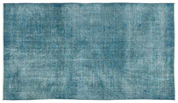 Turquoise 3'10'' X 6'9'' Ft Vintage Kilim Rug, turkish area rug, home decor rug, aztec rug, pale color rug, nomadic rug, hall rug,