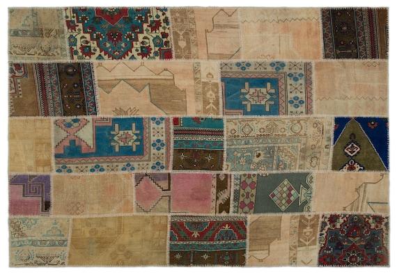 Anatolia 6'2'' X 9'1'' Ft Patchwork Unique Kilim Rug turkish rug, area rug, moroccan rug, boucherouite rug, persian rug, berber rug