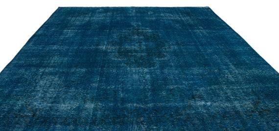 Turquoise  9'6'' X 13'7'' Ft Persian Kilim Rug , turkish rug, area rug, moroccan rug, boucherouite rug, persian rug, berber rug, wool rug