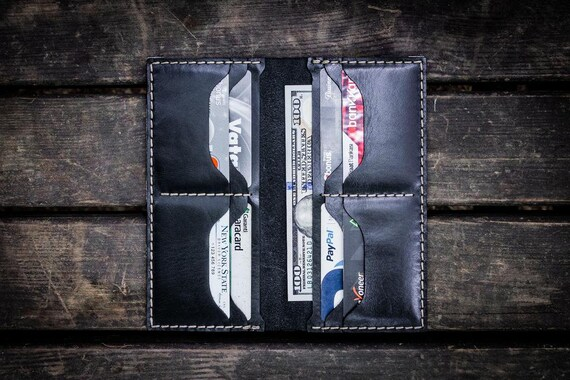 GL No.49 Black Personalized Handmade Unisex Long Wallet