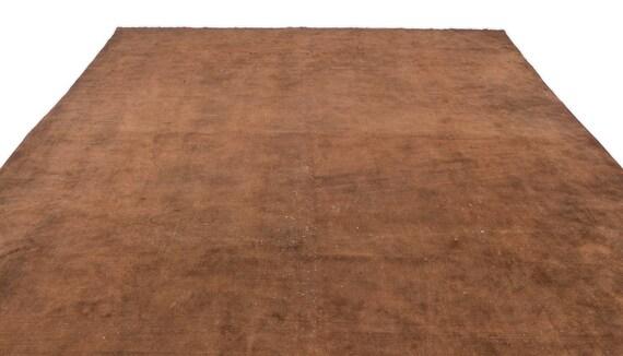 Brown  9'7'' X 12'10'' Ft Persian Kilim Rug , turkish rug, area rug, moroccan rug, boucherouite rug, persian rug, berber rug, wool rug