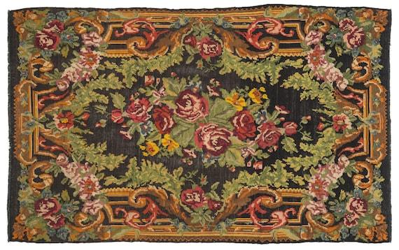 Kilim  Rug  Karabakh Large Size 6'11'' X 11'6'' Ft   kilim rug, moroccan rug, beni ourain, rag rug, tapis kilim, vintage