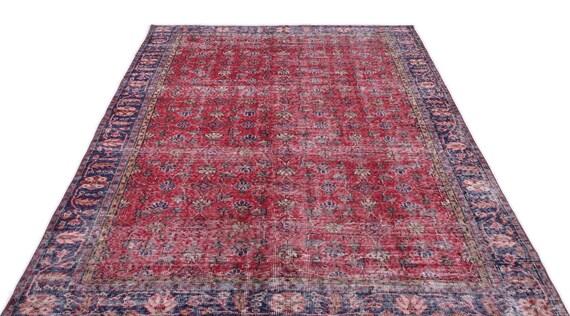 Natural 5'9'' X 9'1'' Ft Vintage Kilim Rug, Turkish Rug, Area Rug, Moroccan Rug, Boucherouite Rug, Persian Rug, Berber Rug, Wool Rug, Boho
