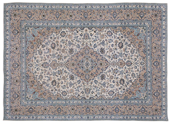 Naturel  9'8'' X 13'2'' Ft Persian Handwoven Kilim Rug