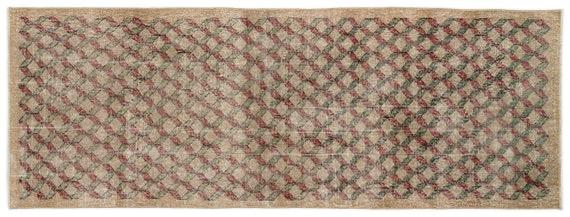 Vintage  Kilim Rug Retro Small Size 3'5'' X 9'3'' Ft   kilim rug, moroccan rug, beni ourain, rag rug, tapis kilim, vintage