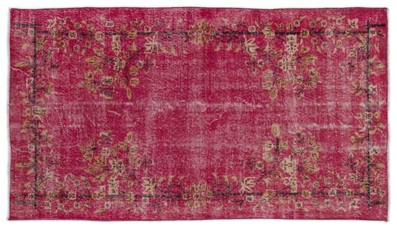 Vintage  Kilim Rug Retro Small Size 3'9'' X 6'9'' Ft   kilim rug, moroccan rug, beni ourain, rag rug, tapis kilim, vintage