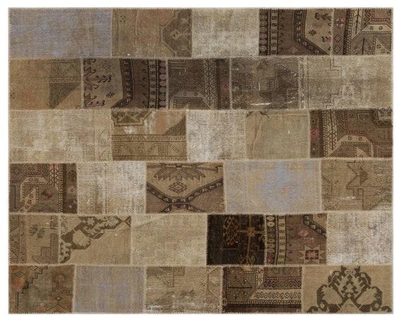 Anatolia 7'9'' X 9'11'' Ft Patchwork Unique Kilim Rug turkish rug, area rug, moroccan rug, boucherouite rug, persian rug, berber rug