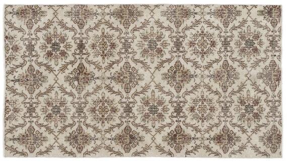 Vintage  Kilim Rug Retro Small Size 3'8'' X 6'10'' Ft   kilim rug, moroccan rug, beni ourain, rag rug, tapis kilim, vintage