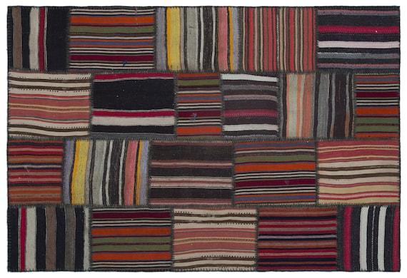 Naturel 5'1'' X 7'7'' Ft Kilim Patchwork Unique Rug