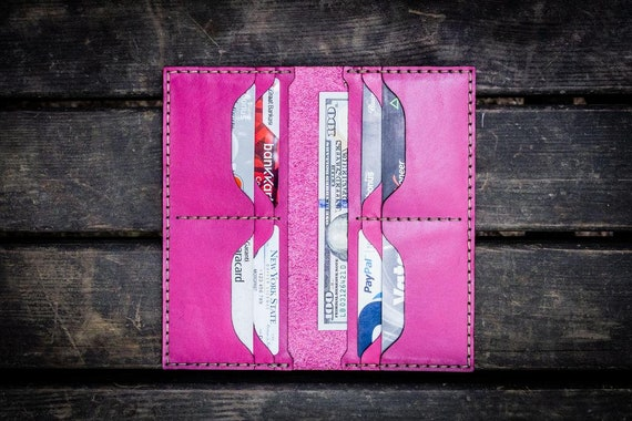 GL No.49 Pink Personalized Handmade Unisex Long Wallet