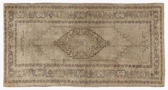 Heritage  Kilim Rug Beige Small Size 4'6'' X 8'8'' Ft   kilim rug, moroccan rug, beni ourain, rag rug, tapis kilim, vintage