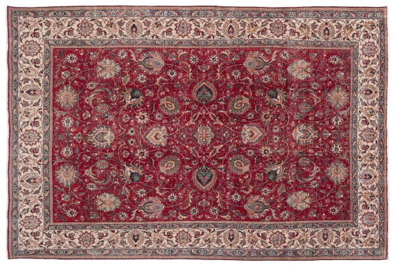 Naturel  9'2'' X 13'5'' Ft Persian Handwoven Kilim Rug