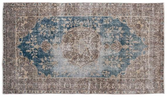 Vintage  Kilim Rug Retro Small Size 3'9'' X 6'7'' Ft   kilim rug, moroccan rug, beni ourain, rag rug, tapis kilim, vintage