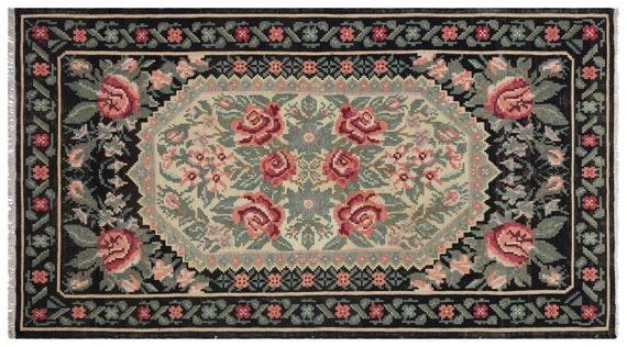 Kilim  Rug  Karabakh Large Size 5'10'' X 10'6'' Ft   kilim rug, moroccan rug, beni ourain, rag rug, tapis kilim, vintage