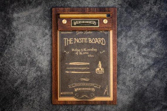 GL The Note Board - Wooden Rhodia Notepad Holder - Mahogany