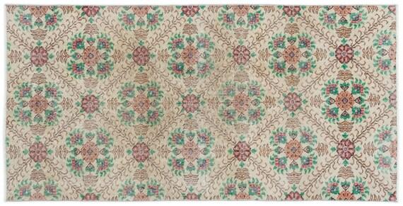 Vintage  Kilim Rug Retro Small Size 3'3'' X 6'7'' Ft   kilim rug, moroccan rug, beni ourain, rag rug, tapis kilim, vintage
