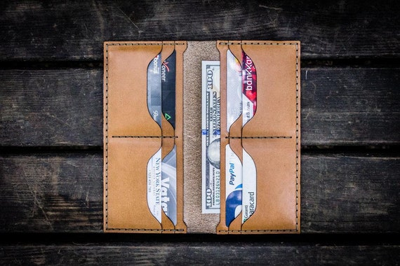GL No.49 Natural Personalized Handmade Unisex Long Wallet