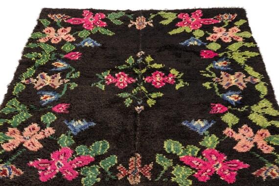 Tullu 4'8'' X 5'11'' Ft Kilim Rug, turkish rug, area rug, moroccan rug, boucherouite rug, persian rug, berber rug, wool rug