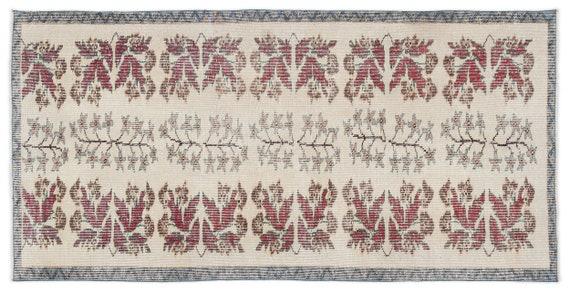 Vintage  Kilim Rug Retro Small Size 3'4'' X 6'8'' Ft   kilim rug, moroccan rug, beni ourain, rag rug, tapis kilim, vintage