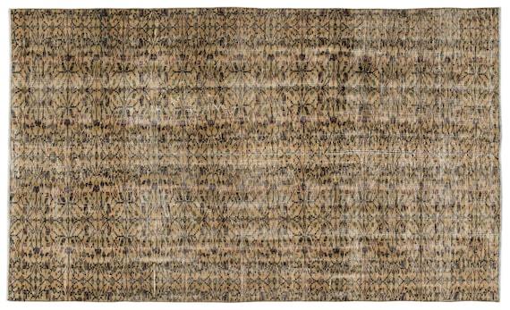 Naturel 5'3'' X 9'1'' Ft Vintage Handwoven Kilim Rug
