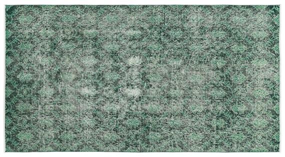 Vintage  Kilim Rug Retro Small Size 3'5'' X 6'6'' Ft   kilim rug, moroccan rug, beni ourain, rag rug, tapis kilim, vintage