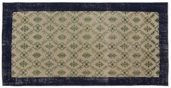 Vintage  Kilim Rug Retro Small Size 3'8'' X 7'5'' Ft   kilim rug, moroccan rug, beni ourain, rag rug, tapis kilim, vintage