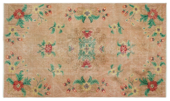 Vintage  Kilim Rug Retro Small Size 3'10'' X 6'8'' Ft   kilim rug, moroccan rug, beni ourain, rag rug, tapis kilim, vintage