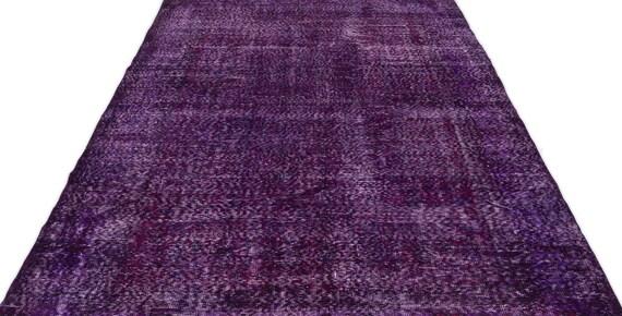 Purple 5'9'' X 9'11'' Ft Vintage Kilim Rug, Turkish Rug, Area Rug, Moroccan Rug, Boucherouite Rug, Persian Rug, Berber Rug, Wool Rug, Boho
