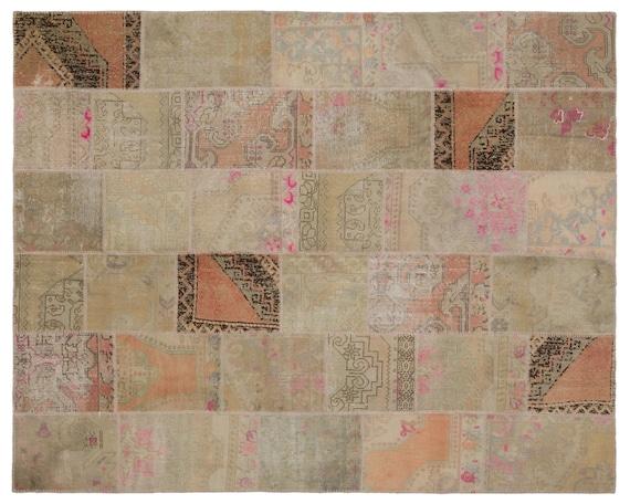 Patchwork Unique  Kilim Rug Anatolia Large Size 7'10'' X 9'10'' FtTurkish Oushak Moroccan Rug