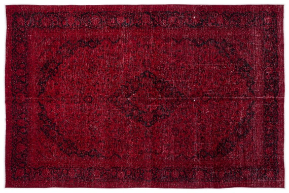 Red  9'5'' X 13'11'' Ft Persian Handwoven Kilim Rug