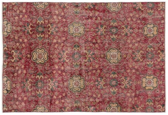 Vintage  Kilim Rug Retro Small Size 3'10'' X 5'7'' Ft   kilim rug, moroccan rug, beni ourain, rag rug, tapis kilim, vintage