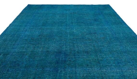 Turquoise  9'6'' X 13'3'' Ft Persian Kilim Rug , turkish rug, area rug, moroccan rug, boucherouite rug, persian rug, berber rug, wool rug