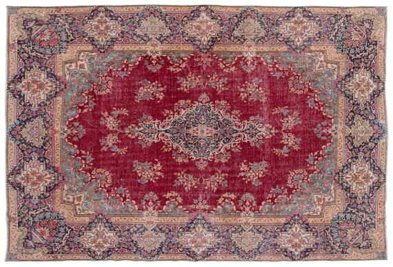 Naturel  9'8'' X 13'9'' Ft Persian Handwoven Kilim Rug