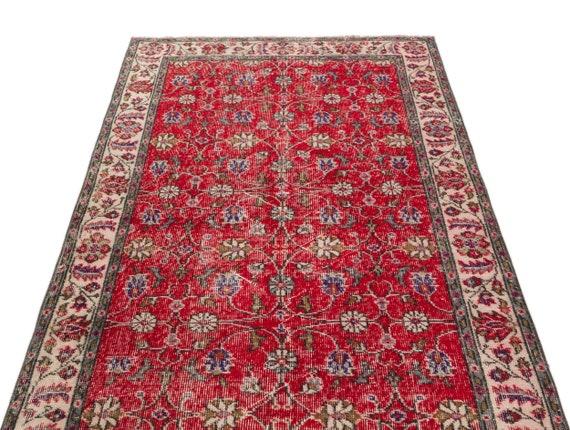 Natural 3'9'' X 6'11'' Ft Vintage Kilim Rug, Turkish Rug, Area Rug, Moroccan Rug, Boucherouite Rug, Persian Rug, Berber Rug, Wool Rug, Boho