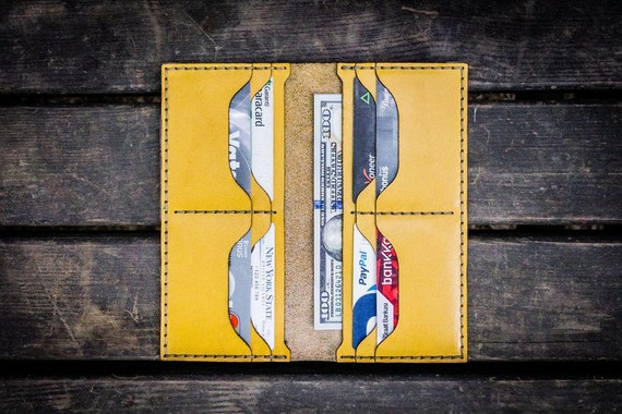 GL No.49 Yellow Personalized Handmade Unisex Long Wallet