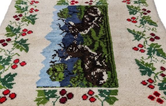 Tullu 5'11'' X 6'11'' Ft Kilim Rug , turkish rug, area rug, moroccan rug, boucherouite rug, persian rug, berber rug, wool rug