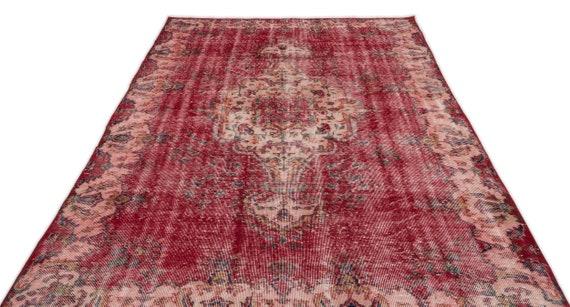 Natural 5'10'' X 9'12'' Ft Vintage Kilim Rug, turkish rug, area rug, moroccan rug, boucherouite rug, persian rug, berber rug, wool rug