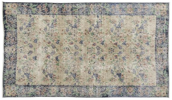 Vintage  Kilim Rug Retro Small Size 3'9'' X 6'5'' Ft   kilim rug, moroccan rug, beni ourain, rag rug, tapis kilim, vintage