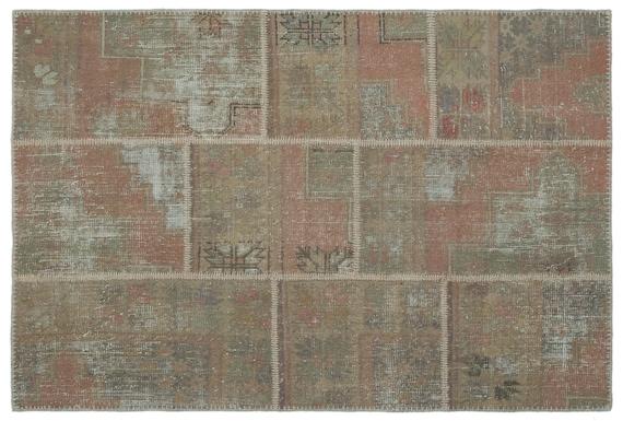 Patchwork Unique  Kilim Rug Beige Small Size 3'11'' X 5'11'' Ft,    moroccan rug, beni ourain rug, rag rug, tapis kilim