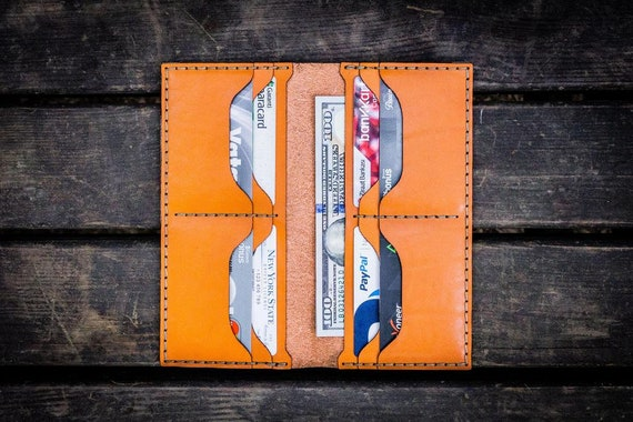 GL No.49 Orange Personalized Handmade Unisex Long Wallet